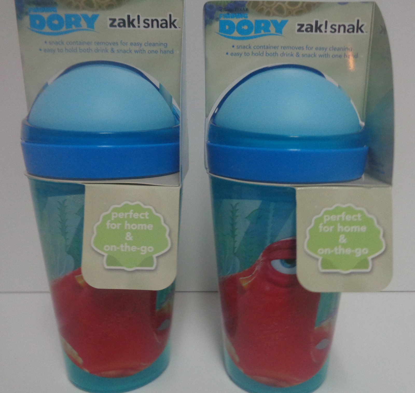ZAK Finding Dory Snack & Drink Cups NWT 10oz BPA Free Lot of 2