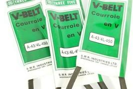 LOT OF 3 NEW THREE FIVE A-43/4L-450 V-BELTS A43 4L450 image 2