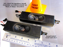 TCL 32S3750 Speakers Anyall P1629301 42-WDF413-XX3G 10 Watts 8 Ohms 161244C4 - $14.00
