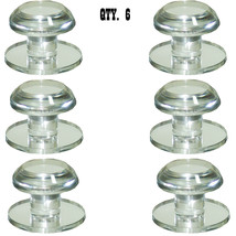 Clear Acrylic Stick-On Beveled Face Mirror Round Knobs - Pack of 6 - $79.95