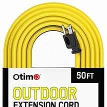 Otimo 50 Ft 14/3 Outdoor Heavy Duty Extension Cord - 3 Prong (50 ft|Yellow) - $38.91
