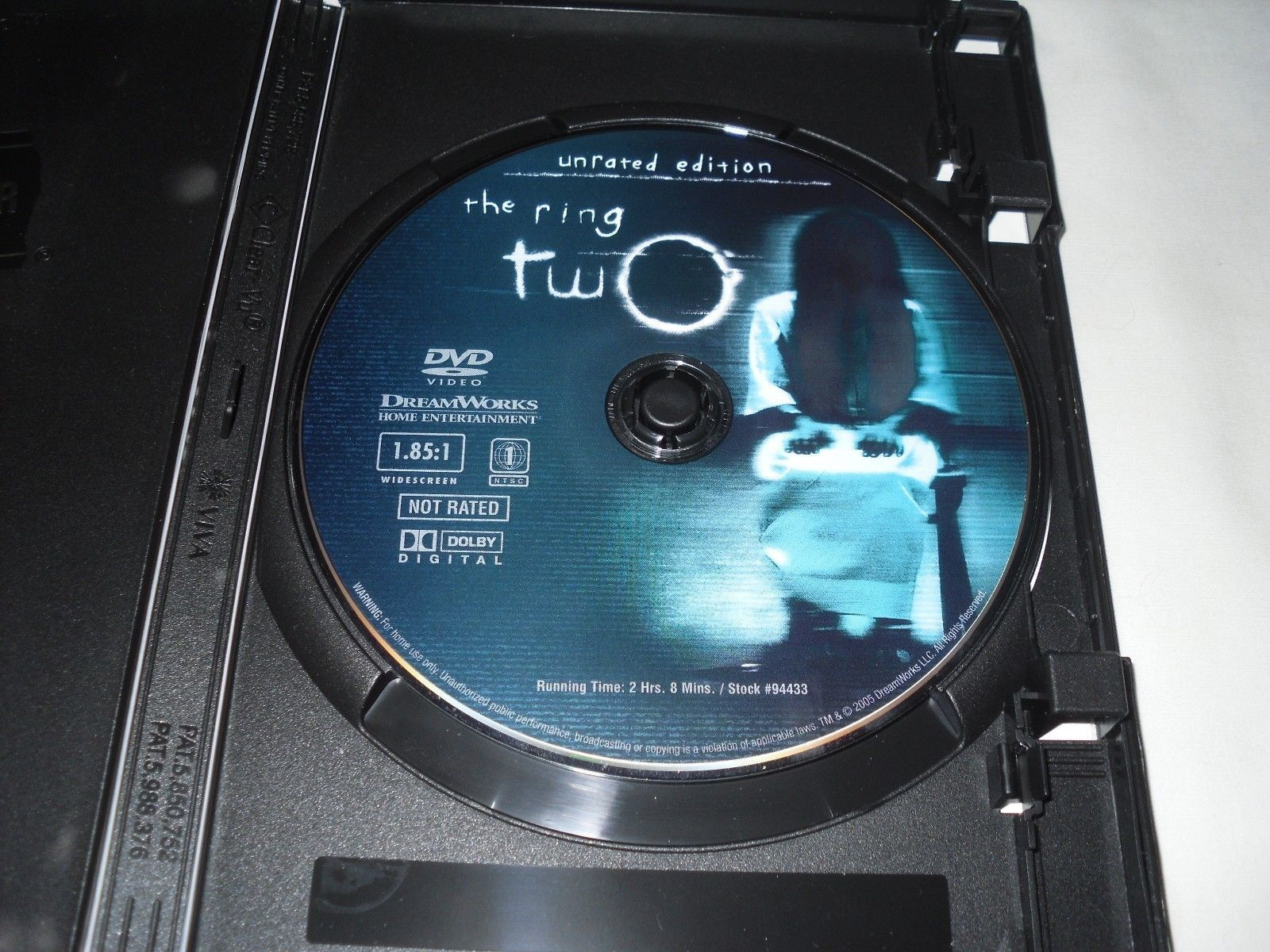 The Ring Two (DVD, 2005, UNRATED - WIDESCREEN) Naomi Watts, David Dorfman
