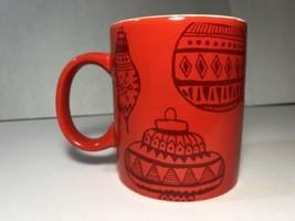 Starbucks Mug 2015 Red Coffee Cup 12oz Ornament Design Christmas Holiday... - $9.89