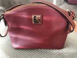 Dooney Bourke  Red Leather Crossbody Handbag- excellent condition! - $84.15