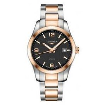 Longines Men's L27855567 Conquest 18kt Rose Gold Automatic Stainless Steel Watch - $2,575.69