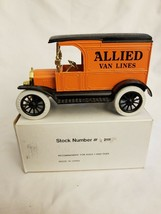 Ertl Truck Bank Ford 1917 Model T Van - Allied Van Lines NIB MIB orange and blk - $12.23