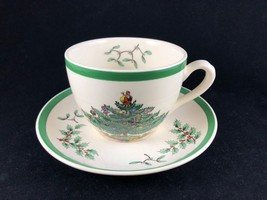 Spode Christmas Tree Teacup and Saucer S3324 M S3324 L - Made in England - $14.25