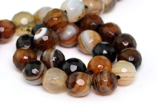 6mm Natural Brown Cracked Agate Beads Grade A Faceted Round Loose Beads 7'' Craf