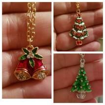 Christmas Necklaces, Christmas Tree, Christmas Bells, Mistletoe - $3.99