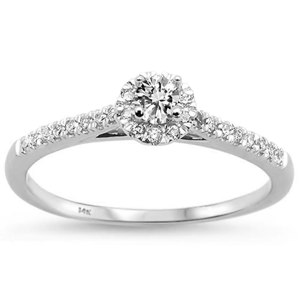 14K White Gold .33 CTW Diamond Promise Ring - Size 6.5