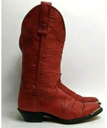 MISS CAPEZIO Sz 6 RED WESTERN BOOTS Cowgirl 70s Vintage Rodeo Motorcycle Biker - $49.49
