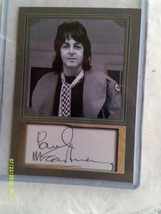 Paul McCarthy Beatles Autographed-Photographer-Landscaped Card. - $25.00