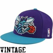 Mitchell & Ness NBA Hardwood Classics Charlotte Hornets XL 2 Tone Fitted... - $34.99