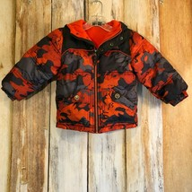 Pacific Trail Puffer Jacket Winter Coat Hood Black Gray Orange Camo sz 4... - $18.50