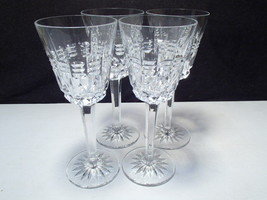 """4 WEDGEWOOD KINGS WINE GLASS GOBLET 7 1/4"""" CRYSTAL STEMS SIGNED - $69.99"""