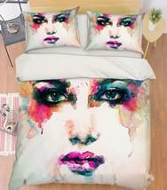 3D Color Woman 2 Bed Pillowcases Quilt Duvet Cover Set Single Queen King Size AU - $90.04+