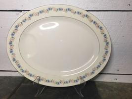 "Theodore HAVILAND Oval Meat Platter 14"" PEMBERTON New York, Pink & Blue ... - $39.59"