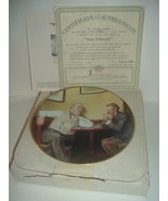 Edwin Knowles Norman Rockwell Best Friends Golden Moments with box COA - $18.99
