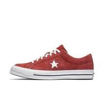 Herren Converse One Star Ox Niedrig Wildleder Rot Weiß 158434C - $60.34
