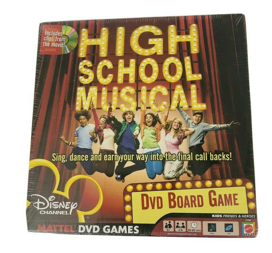 High School Musical DVD Board Game Disney Mattel New - $18.99