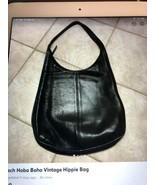 COACH Black Leather Hobo Boho Hippie Bag Purse 9026 BIG - $181.98