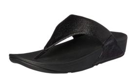 FitFlop Women's Lulu Molten Metal BLACK Flip-Flop US 7 8 8.5  EU 38 39 40 - $39.99