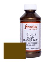Angelus Acrylic Leather Paint-4oz.-Bronze - $8.48
