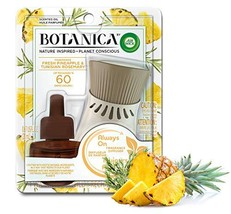 Botanica by Air Wick Plug in Scented Oil Starter Kit, 1 Warmer + 1 Refill, Fresh