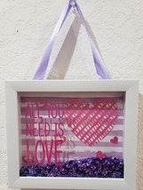Valentines Day MINI Sequins Ornament or Hanging Sign Tabletop Decor 5.75... - $10.99