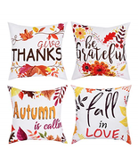 BLEUM CADE Pillow Covers Throw Pillow Cover Autumn Pillow Case Fall Dail... - $20.83