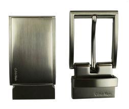 Calvin Klein Ck Men's Leather Reversible Buckle Belt 3 Piece Set Box Black 74360 image 5