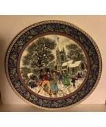 Royal Worcester Plate Boxing Day #3 Christmas Past Series by Sue Scullard - $12.87