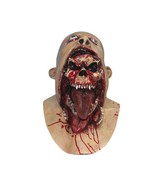 Undead Scary Mask Bloody Skeleton Skull Mouth Latex For Halloween Party ... - $22.96