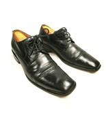 Tasso Elba Antonio M41804 Mens Black Leather Cap Toe Lace Up Oxfords Siz... - $40.82