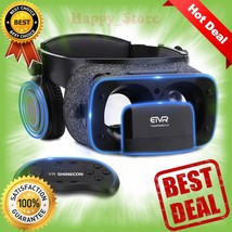 Ultralight Virtual Reality Headset with Stereo Headphones, 3D VR Glasses... - €42,37 EUR