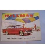 1960  HILLMAN CONVERTIBLE  OWNERS SALES BROCHURE   - $29.99