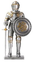 YTC Pewter French Knight Statue Figurine Decoration - $19.99