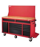 Milwaukee 61 in. 11-Drawer/1-Door 22 in. D Mobile Workbench with Sliding... - $850.83