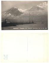 Napoli Telefoto Del Vesuvio Volcano VINTAGE POSTCARD - $10.00