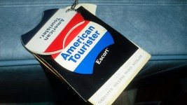 Vintage Rare Blue American Tourister Travel Luggage Brand New Tags and K... - $149.54
