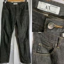 Armani Exchange A/X Classic 5 Pocket Denim Jeans in Black Rinse 31X30 - $44.52