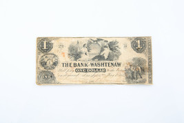 1854 una Dólar The Bank Of Washtenaw Billete - $59.52