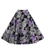 Hepburn Style Vintage Bubble Skirt A-line Pleated Skirt   purple - $26.99