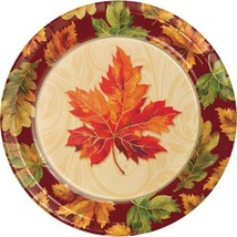 "Fall Flourish 8 ct 8.75"" Lunch Dinner Plates Thanksgiving Banquet - $5.39"