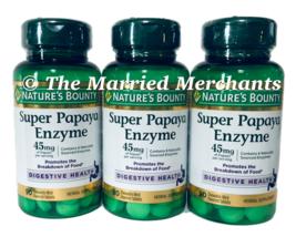 Nature's Bounty Super Papaya Enzyme 45 mg 90 tablets ea 11/2022 FRESH! - 3 pack - $21.99