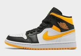 Nike W Air Jordan 1 Mid SE Retro Yellow Laser Orange Black CV5276-107 Size 10 - $160.55