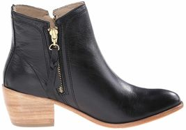 "NEW 1883 by Wolverine Women's Ella Black Leather 5"" Side Zip Ankle Booties NIB image 3"