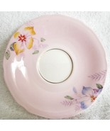 Paragon By Appointment Queen Mary Saucer Pink White Flowers Two Stamp - $12.95