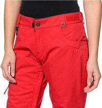 686 Mannual Patron Snowboard Pants Womens 10k Insulated Red S image 4