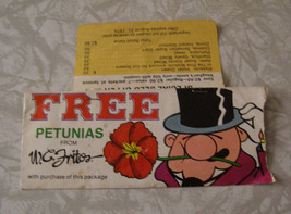 W.C. Fritos Free Petunias Seed Packet 1980s advertising premium - $14.99